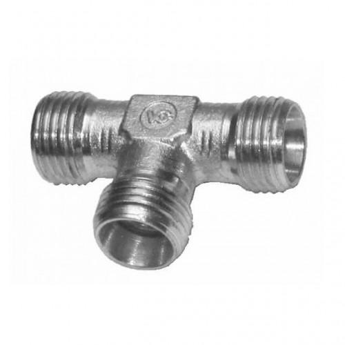 Тройник без гаек и уплотнительного кольца тип соединение T90 -DIN2553