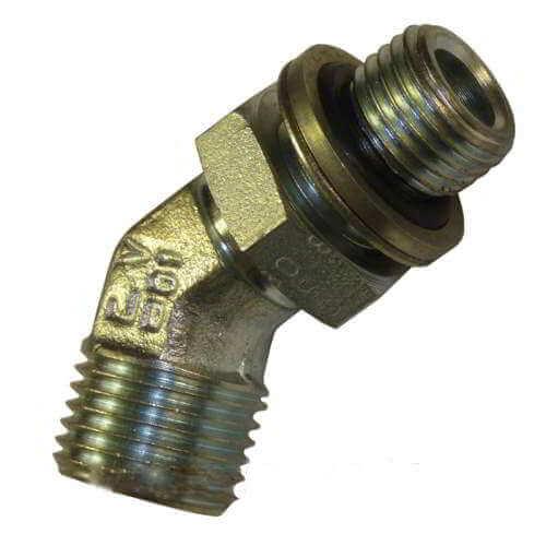 Адаптер угловой 45° DIN и с наружной контргайкой