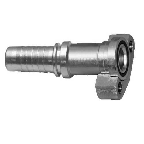 Обжимной фитинг для гидравлических шлангов с фланцем SFS, серия SAE J518, 6000 PSI- неразъемный